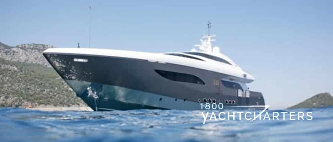NAMASTE 8 superyacht at anchor