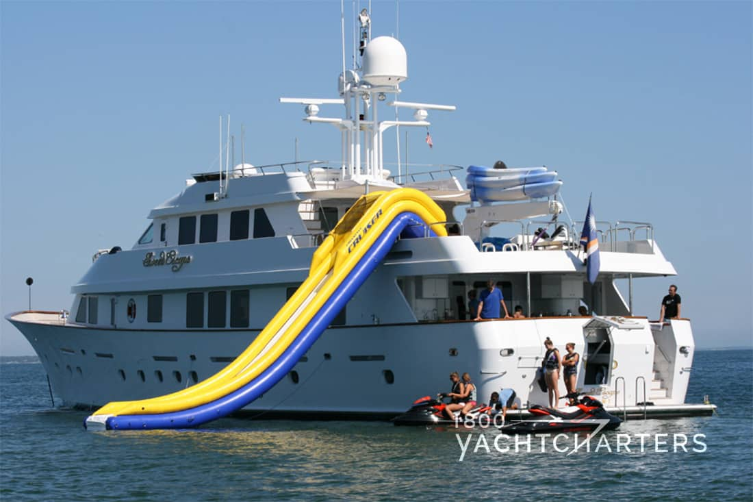 SWEET ESCAPE yacht profile with inflatable slide