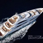 sunseeker yacht Thumper aerial view