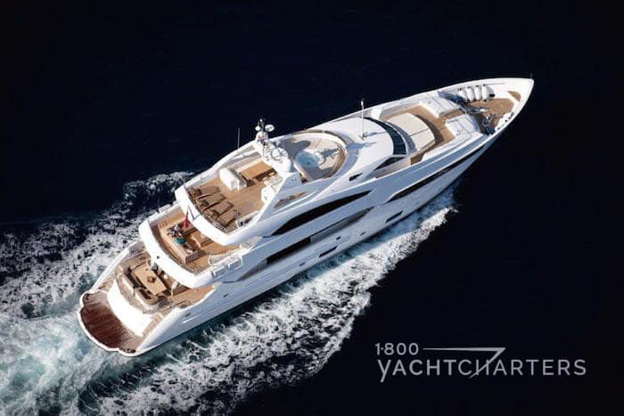 sunseeker yacht Thumper aerial view