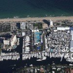 Aerial view of Ft. Lauderdale International Boat Show