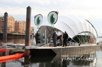 Professor Trash Wheel - with eyelashes