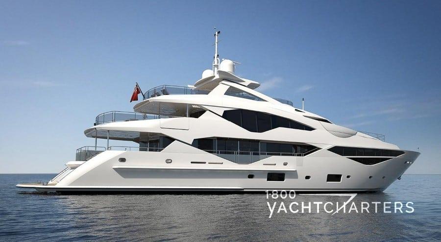 AQUA LIBRA white Sunseeker motoryacht profile
