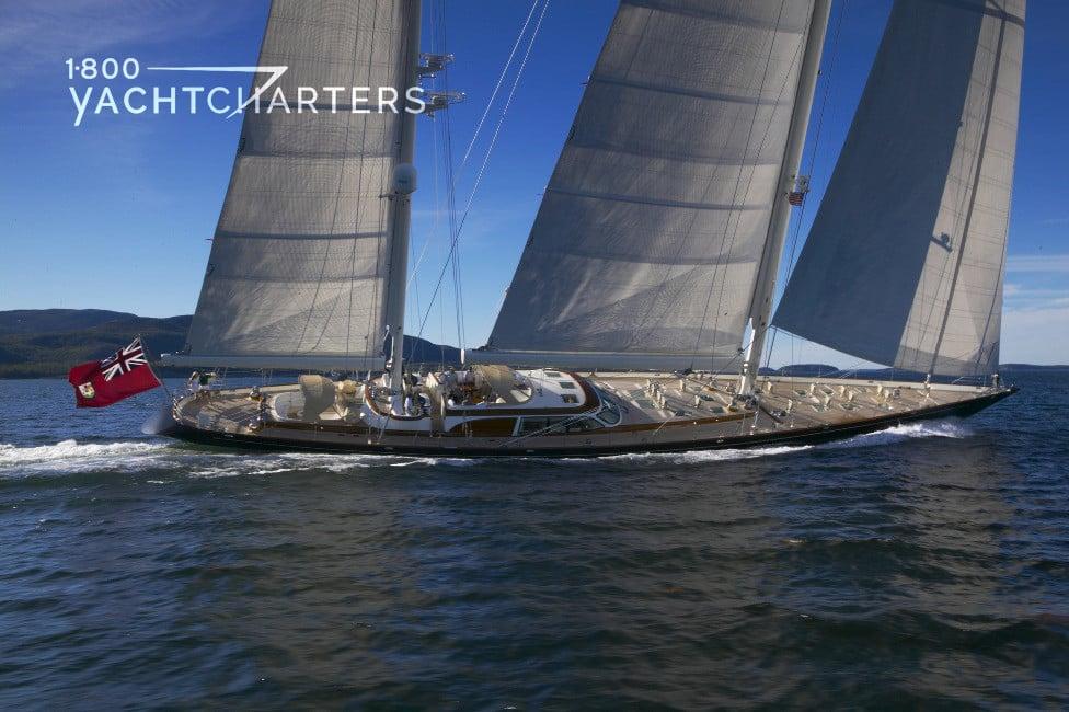 Sailboat underway - headed right