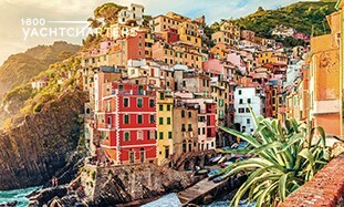 Photograph of Cinque Terre, Italy. This is a must see on yacht charter Italy.