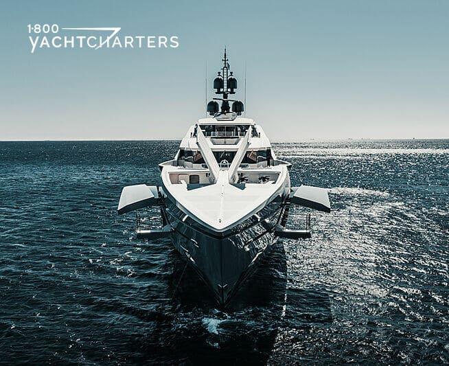 Photograph of Tatiana yacht view toward bow, underway
